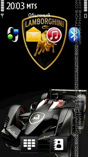 Lamborghini 10 theme screenshot