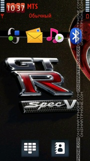 Скриншот темы Nissan Gtr 14