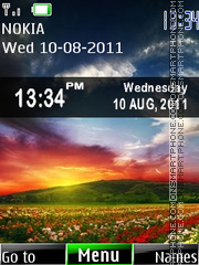 Nature Clock 09 es el tema de pantalla