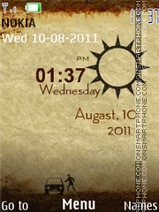 Paper City Clock V2 theme screenshot