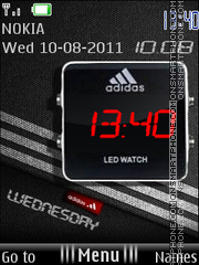 Adidas Clock 01 theme screenshot