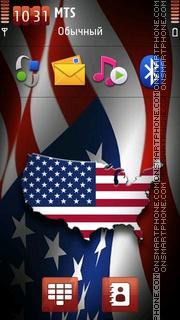 Usa Flag 02 theme screenshot