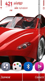 Скриншот темы Ferrari by Shawan