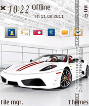 White Ferrari 01 theme screenshot