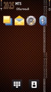 Orange 2d Checkers tema screenshot