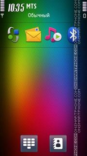 Rainbow Mix theme screenshot