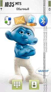 Скриншот темы Grouchy Smurf 01
