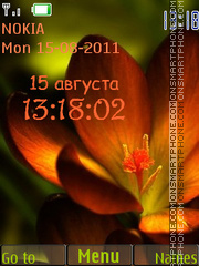 Flower Clock tema screenshot