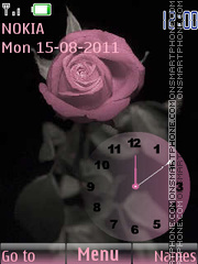 Rose and Clock theme screenshot