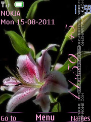 Lily Clock tema screenshot