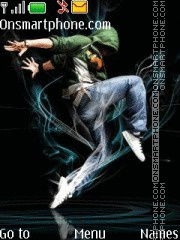 Street dance theme screenshot