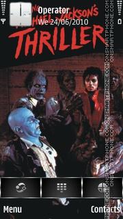 Скриншот темы Michael Jackson Thriller