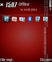 Carbon Red theme screenshot