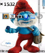 Papa Smurf theme screenshot