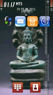 Bronze Figure Of Buddha theme screenshot