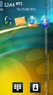 Yellow Green theme screenshot