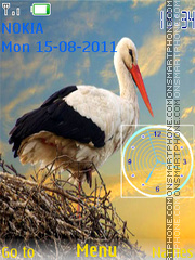 Stork and Clock theme screenshot