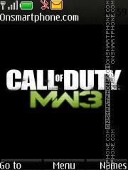 Call Of Duty Mw3 es el tema de pantalla