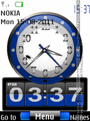 Dual Clock With Icons theme screenshot