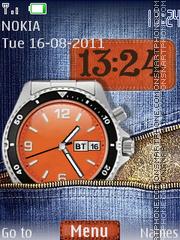 Jeans Dual Clock theme screenshot