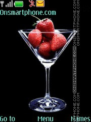 Strawberry Cocktail tema screenshot