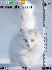 White Sweet Cat theme screenshot