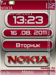 Nokia Clock 08 theme screenshot