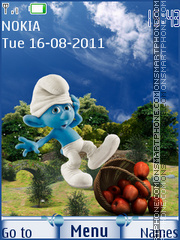 Smurfs theme screenshot