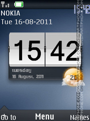 Glossy Htc theme screenshot