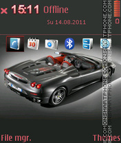 Ferrari F430 09 theme screenshot