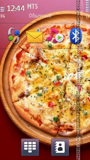 Pizza Wallpaper tema screenshot
