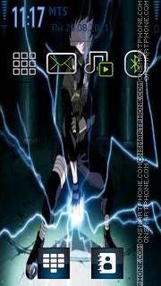 Kakashi Chidori theme screenshot