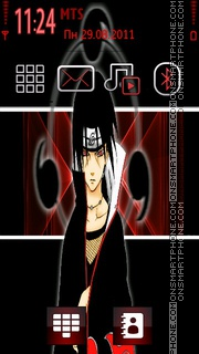 Скриншот темы Sasuke Uchiha