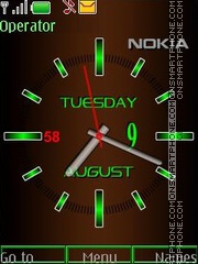Analog clock Brown swf tema screenshot