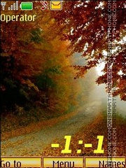 Pictures of Autumn swf es el tema de pantalla