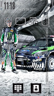 Ken Block Fiesta theme screenshot