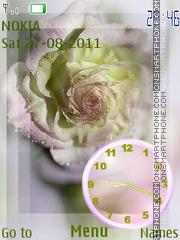 Скриншот темы Rose Clock