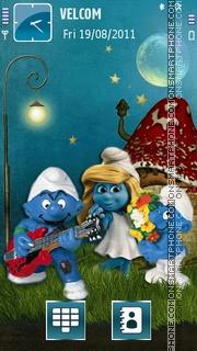 Smurfs theme screenshot