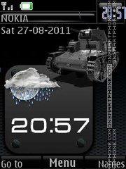 Tanks are not afraid of mud By ROMB39 theme screenshot