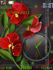 Red flowers theme screenshot