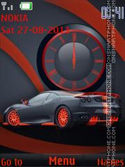 Orange Car tema screenshot