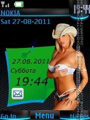 Cowboy girl By ROMB39 tema screenshot