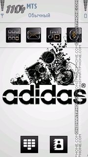 Adidas Logo theme screenshot