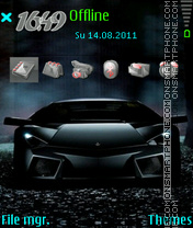Lamborghini 12 theme screenshot