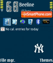Скриншот темы NY