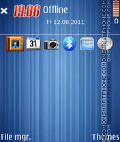 Blue Stripes 5802 theme screenshot