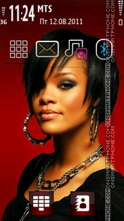 Rihanna 09 theme screenshot