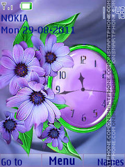 Flowers clock theme screenshot