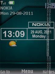 Nokia Clock 10 theme screenshot