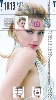 Amber Heard 03 theme screenshot